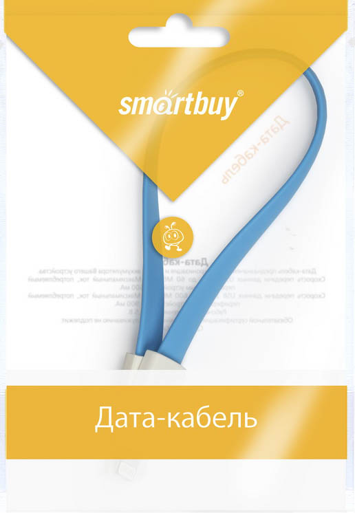 Smartbuy iK-502m, Blue дата-кабель USB-8-pin (0,2 м)
