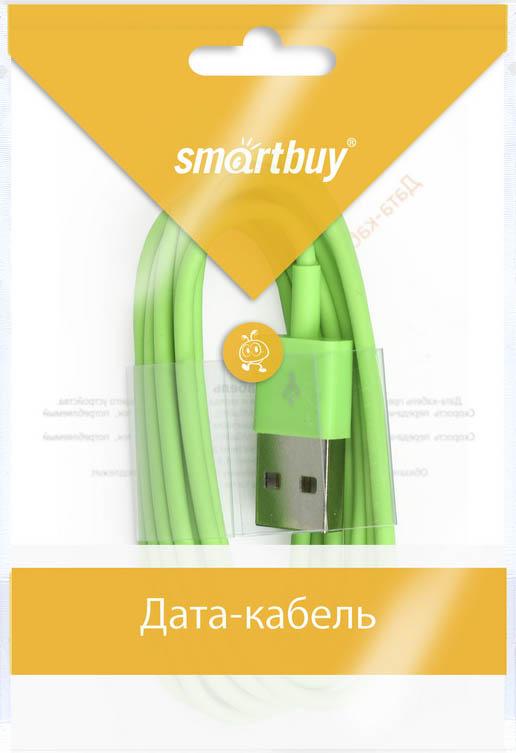 Smartbuy iK-512c, Green дата-кабель USB-8-pin (1,2 м)iK-512c greenКабель Smartbuy iK-512c, для подключения устройств Apple к USB-порту компьютера или зарядки. Позволяет производить быструю зарядку электронного устройства и обеспечивает надежную синхронизацию с PC или Mac.