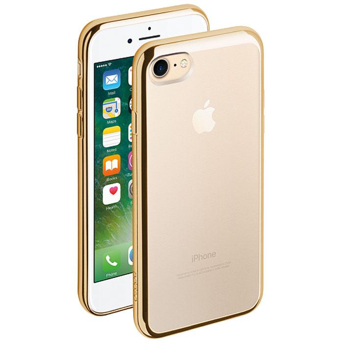 Deppa Gel Plus Case чехол для Apple iPhone 7, Gold85256Чехол Deppa Gel Plus Case из TPU производства Bayer предназначен для защиты корпуса смартфона от механических повреждений и царапин в процессе эксплуатации. Имеется свободный доступ ко всем разъемам и кнопкам устройства.Толщина: 0.9 мм