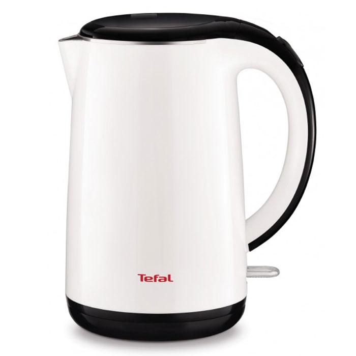 Tefal KO260130 электрочайник7211002463Tefal KO260130 - чайник, оснащенный двойными стенками, которые предотвращают ожоги и способствуют поддержанию температуры воды в течение 30 минут. Он станет прекрасной заменой любой устаревшей модели. Прибор выполнен из качественных и безопасных материалов, поэтому даже длительное использование данной модели не скажется как на качестве работы, так и на вашем здоровье. Устройство быстро нагревает воду и долго сохраняет ее горячей. Tefal KO260130 не занимает много места на кухонной столешнице и не помешает вам в приготовлении пищи. Беспроводное соединение позволяет вращать чайник на подставке на 360°. По необходимости лишний шнур питания вы всегда можете спрятать в специальный отсек.