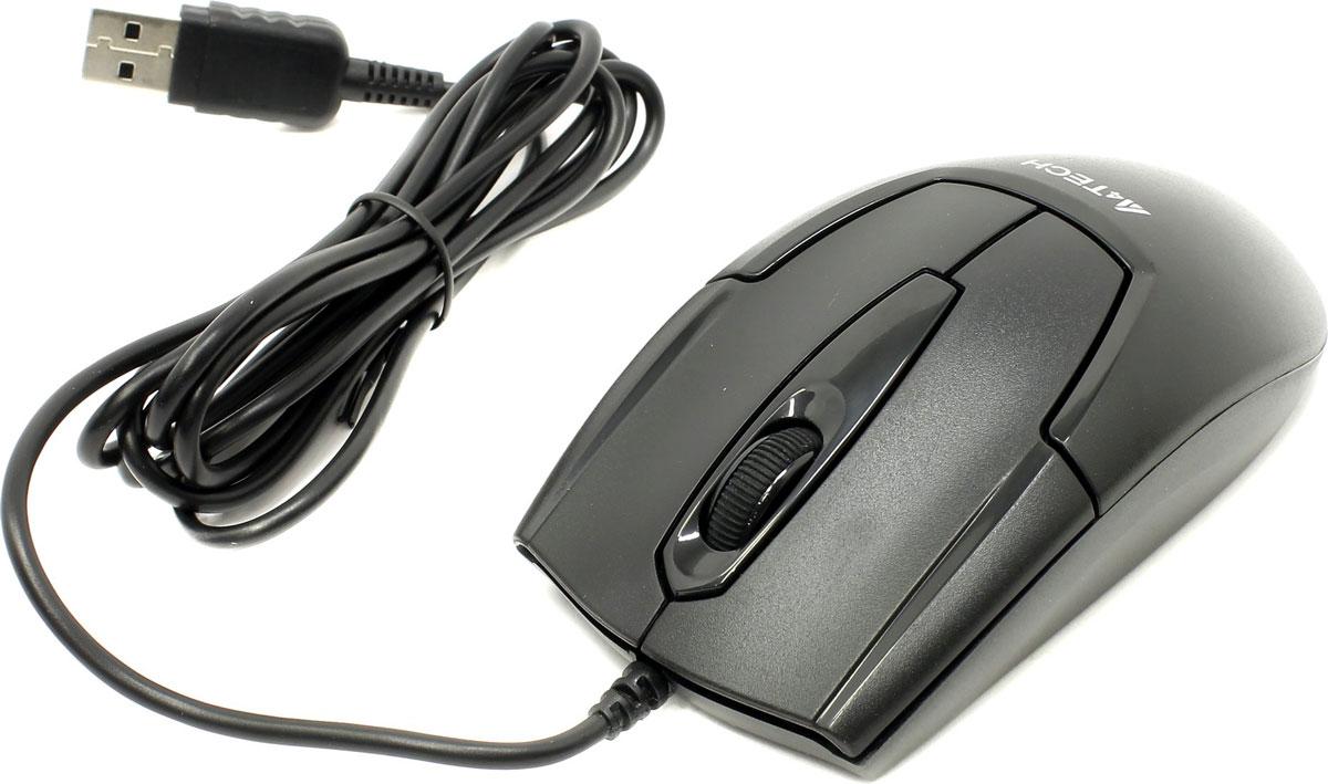 A4Tech V-Track Padless OP-550NU, Black мышьOP-550NUМышь A4Tech V-Track Padless OP-550NU имеет комфортные для ладони обтекаемые формы корпуса. Компактный размер идеально подходит для маленькой и средней руки. Устройство может работать практически на любой поверхности. Традиционного набора клавиш вполне хватает для выполнения всех повседневных задач. Оптический сенсор с разрешением 1000 dpi обеспечивает максимально точное позиционирование курсора. Правая кнопка может быть запрограммирована на выполнение до 8 различных функций. Благодаря симметричной форме эта мышка подходит как правшам, так и левшам.