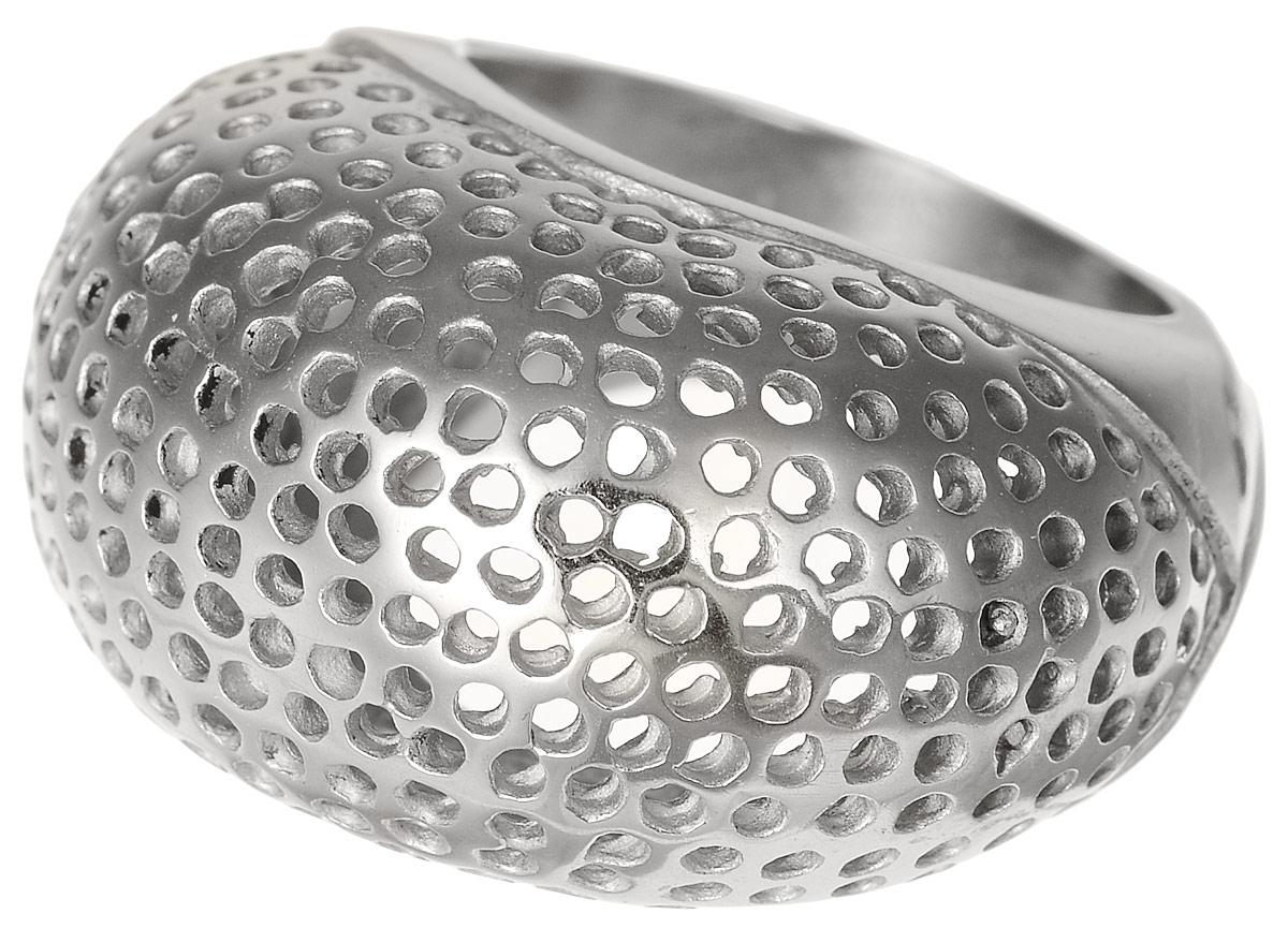 Кольцо Polina Selezneva, цвет: серебристый. DG-0024. Размер 17Коктейльное кольцоСтильное кольцо Polina Selezneva изготовлено из качественного металлического сплава. Кольцо оформлено декоративной перфорацией.