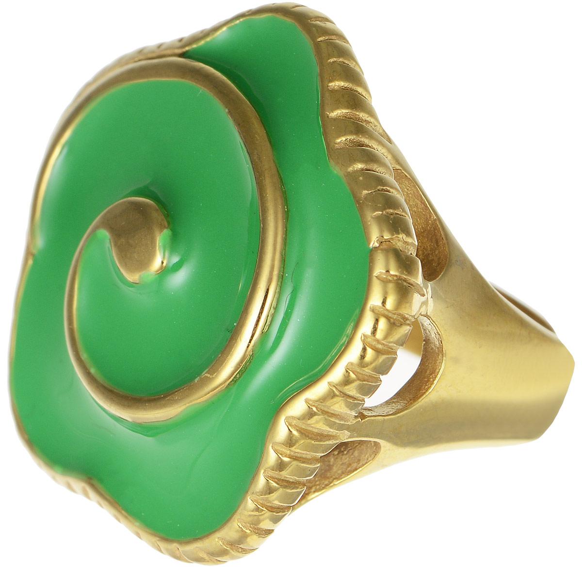 Кольцо Polina Selezneva, цвет: золотистый, зеленый. DG-0032. Размер 18Коктейльное кольцоОригинальное кольцо Polina Selezneva выполнено из металлического сплава. Оформлено изделие в форме цветка. Декоративная часть покрыта эмалью. Такое кольцо это блестящее завершение вашего неповторимого, смелого образа и отличный подарок для ценительницы необычных украшений!