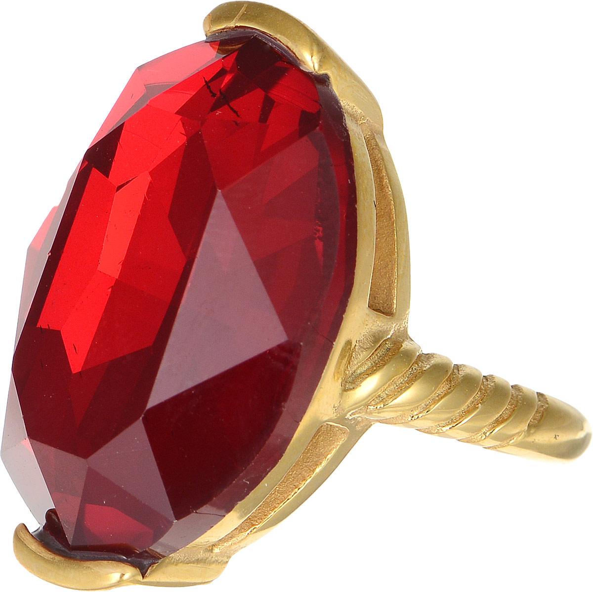 Кольцо Polina Selezneva, цвет: золотистый, красный. DG-0029. Размер 19Коктейльное кольцоОригинальное кольцо Polina Selezneva выполнено из металлического сплава. Оформлено изделие вставкой из хрустального стекла. Такое кольцо это блестящее завершение вашего неповторимого, смелого образа и отличный подарок для ценительницы необычных украшений!