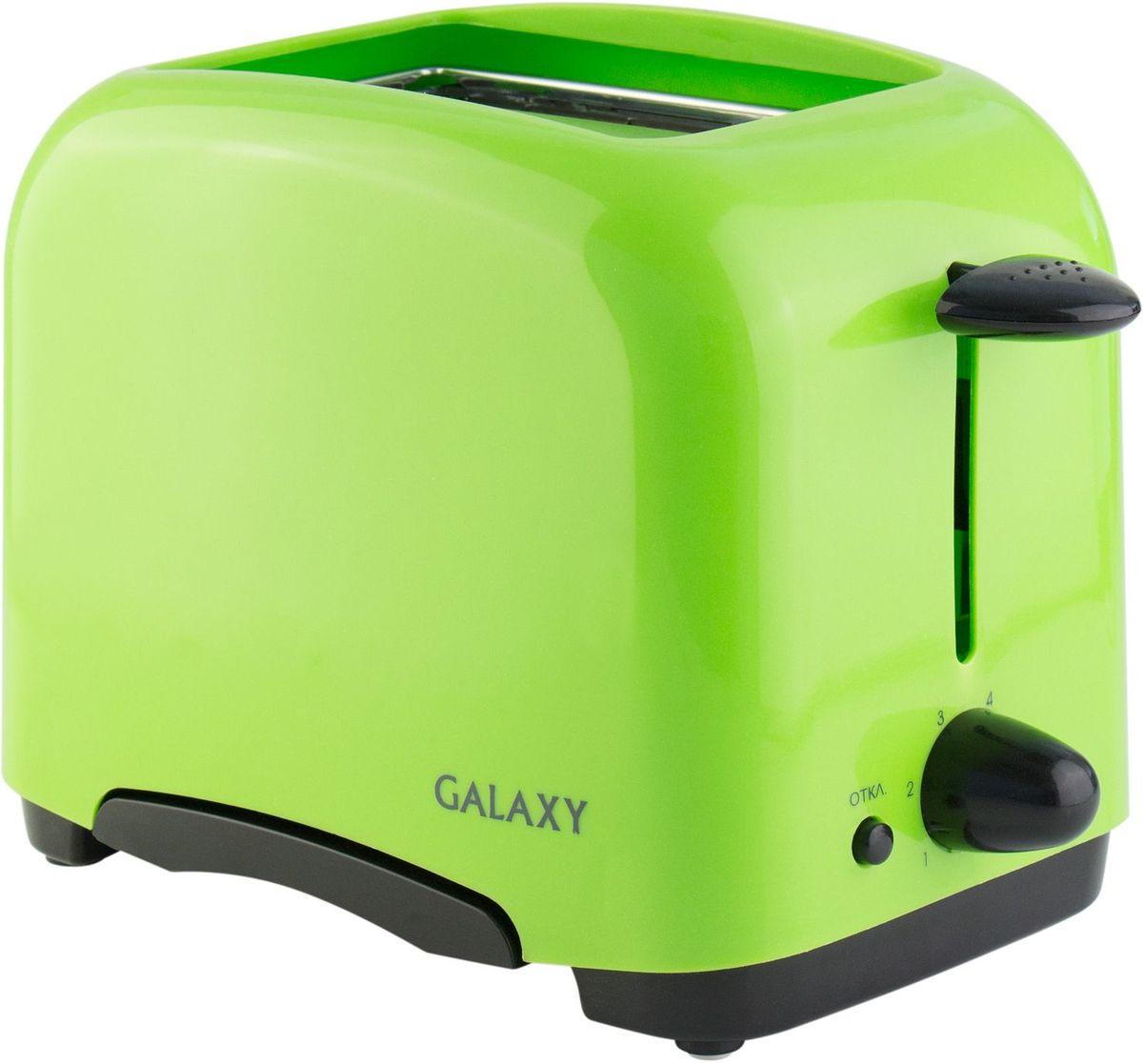 Galaxy GL 2903 тостер4650067300085Хрустящие и ароматные тосты – лучший завтрак. Компактный и надежный тостер Galaxy GL 2903 с функцией автоматического центрирования равномерно поджарит ломтики хлеба с обеих сторон и позволит готовить тосты именно так, как вам нравится.