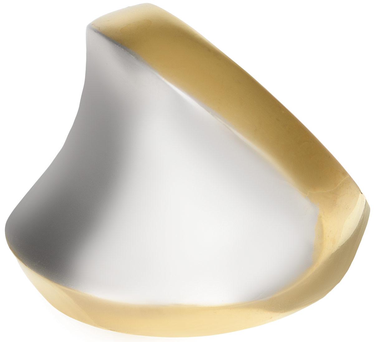 Кольцо Polina Selezneva, цвет: золотистый, серебристый. DG-0026. Размер 19Коктейльное кольцоОригинальное кольцо Polina Selezneva выполнено из металлического сплава. Оформлено изделие интересной вогнутой формы. Такое кольцо это блестящее завершение вашего неповторимого, смелого образа и отличный подарок для ценительницы необычных украшений!