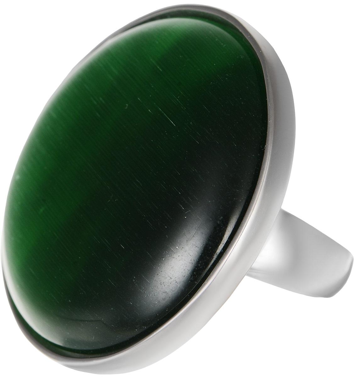 Кольцо Polina Selezneva, цвет: серебристый, зеленый. DG-0020. Размер 17Коктейльное кольцоОригинальное кольцо Polina Selezneva выполнено из бижутерийного сплава. Изделие круглой формы, дополнено искусственным камнем. Такое кольцо это блестящее завершение вашего неповторимого, смелого образа и отличный подарок для ценительницы необычных украшений!