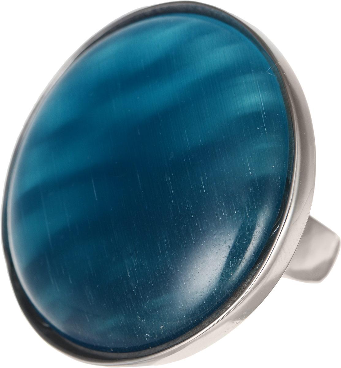 Кольцо Polina Selezneva, цвет: серебристый, синий. DG-0008. Размер 18Коктейльное кольцоОригинальное кольцо Polina Selezneva выполнено из бижутерийного сплава. Изделие круглой формы, дополнено искусственным камнем. Такое кольцо это блестящее завершение вашего неповторимого, смелого образа и отличный подарок для ценительницы необычных украшений!