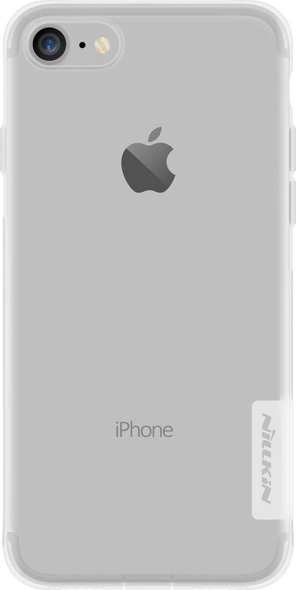 Nillkin Nature Case чехол для Apple iPhone 7, White2000000100524Чехол Nillkin Nature для Apple iPhone 7 надежно защищает ваш смартфон от внешних воздействий, грязи, пыли, брызг. Он также поможет при ударах и падениях, не позволив образоваться на корпусе царапинам и потертостям. Чехол обеспечивает свободный доступ ко всем функциональным кнопкам смартфона и камере.