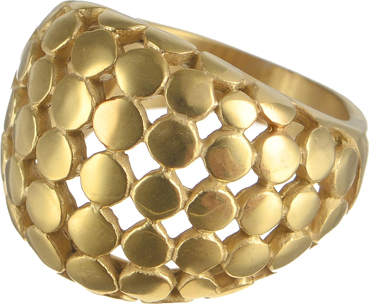 Кольцо Polina Selezneva, цвет: золотистый. DG-0041. Размер 20Коктейльное кольцоСтильное кольцо Polina Selezneva изготовлено из латуни и выполнено в оригинальном дизайне. Кольцо оформлено декоративной перфорацией.