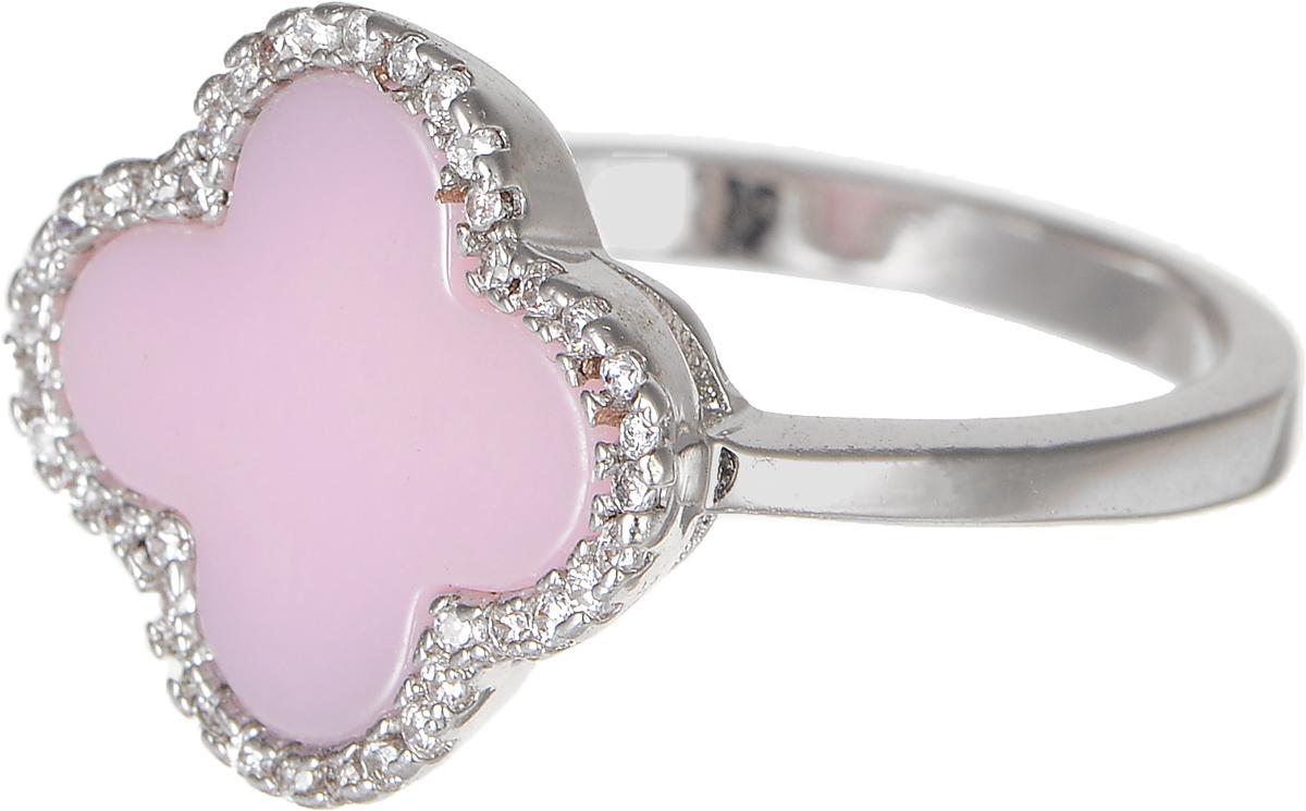 Кольцо Polina Selezneva, цвет: серебристый, розовый. DG-0072. Размер 18Коктейльное кольцоСтильное кольцо Polina Selezneva изготовлено из качественного металлического сплава. Декоративная часть выполнена в виде цветка со вставкой из ювелирной смолы и стразов.