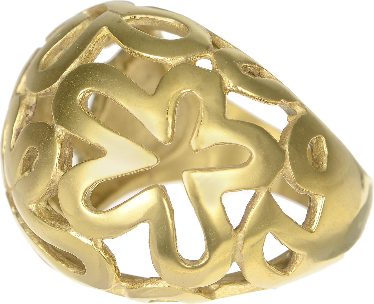 Кольцо Polina Selezneva, цвет: золотистый. DG-0005. Размер 18Коктейльное кольцоСтильное кольцо Polina Selezneva изготовлено из качественного металлического сплава и выполнено в оригинальном дизайне. Кольцо оформлено цветочным резным узором.