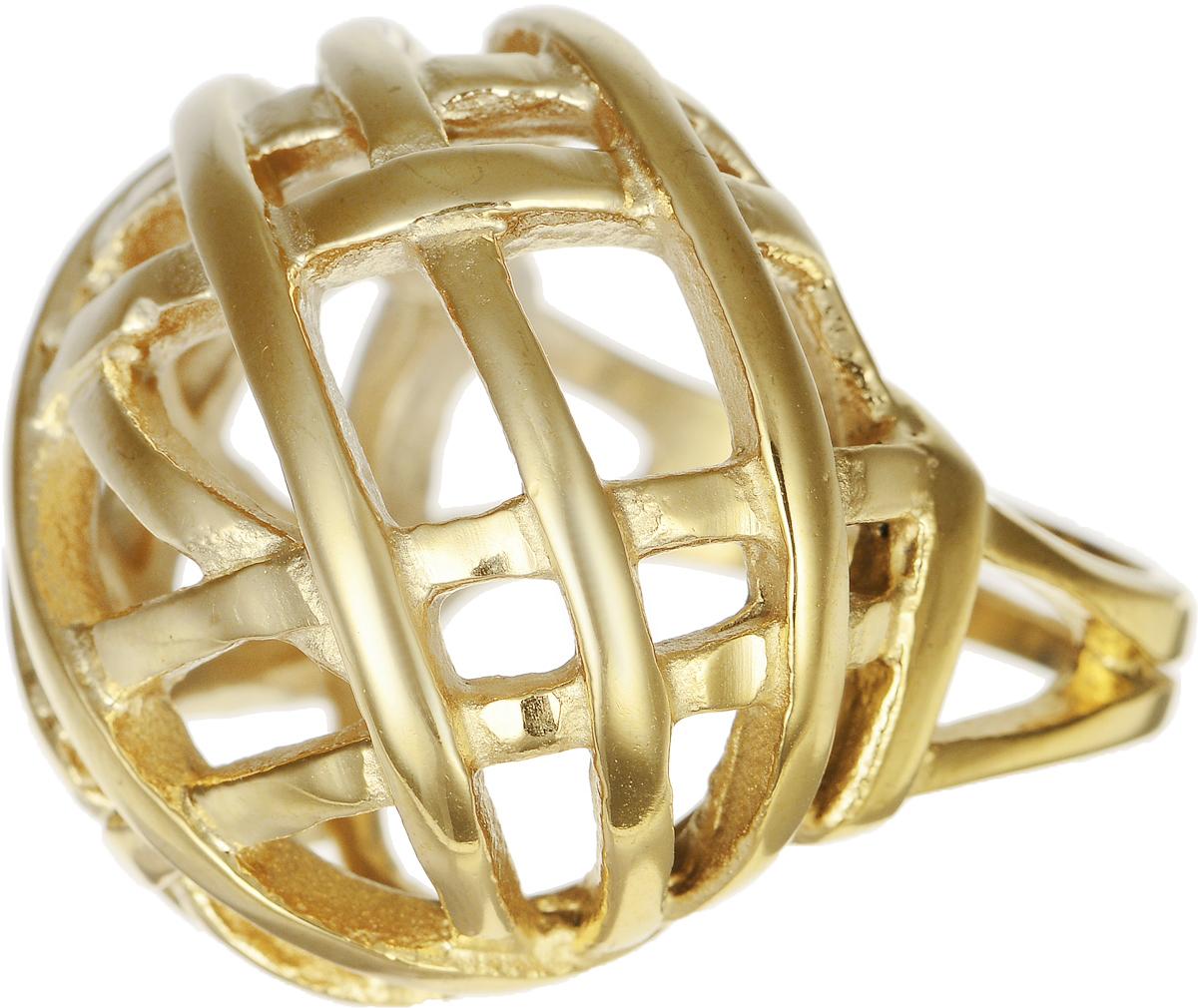 Кольцо Polina Selezneva, цвет: золотистый. DG-0014. Размер 19Коктейльное кольцоСтильное кольцо Polina Selezneva изготовлено из качественного металлического сплава и выполнено в оригинальном дизайне. Кольцо оформлено резным узором.