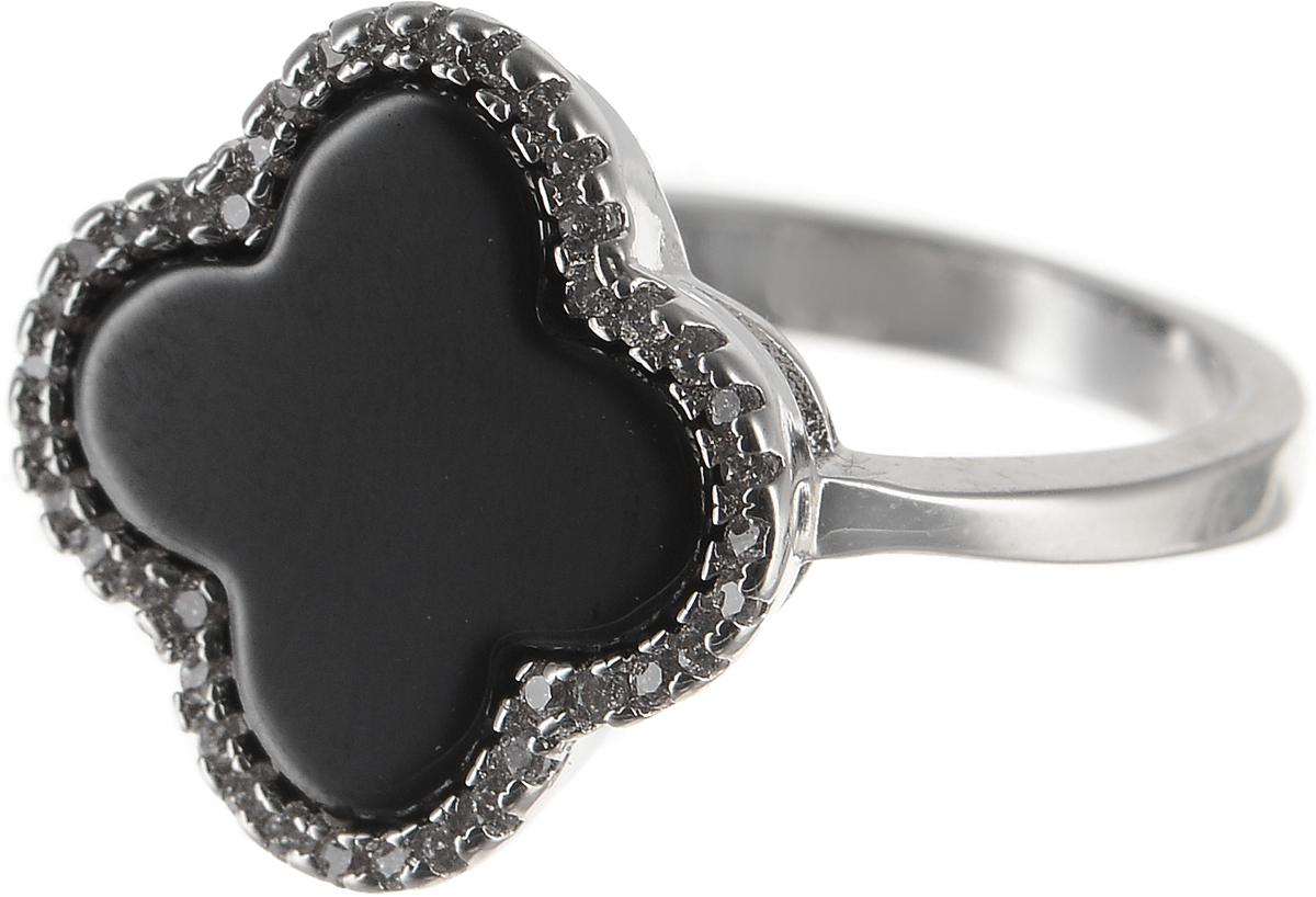 Кольцо Polina Selezneva, цвет: серебристый, черный. DG-0071. Размер 18Коктейльное кольцоОригинальное Polina Selezneva выполнено из бижутерийного сплава и оформлено стразами и вставкой из смолы. Такое кольцо это блестящее завершение вашего неповторимого и смелого образа и отличный подарок для ценительницы необычных украшений!