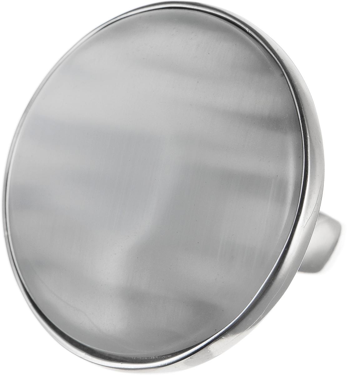 Кольцо Polina Selezneva, цвет: серебристый, перламутровый. DG-0003. Размер 18Коктейльное кольцоОригинальное кольцо Polina Selezneva выполнено из бижутерийного сплава. Изделие круглой формы, дополнено искусственным камнем. Такое кольцо это блестящее завершение вашего неповторимого, смелого образа и отличный подарок для ценительницы необычных украшений!