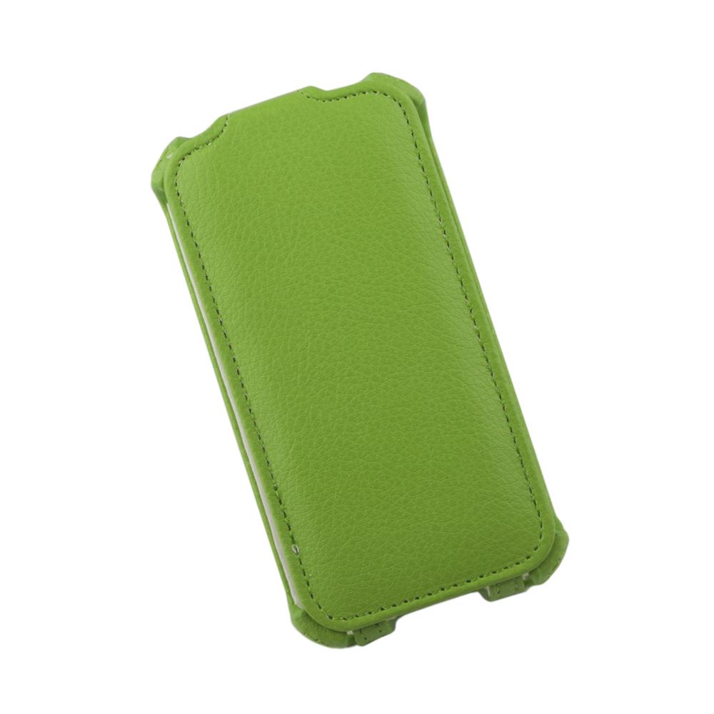 Liberty Project чехол-флип для Apple iPhone 4/4S, Green0L-00002584Флип-чехол Liberty Project для Apple iPhone 4/4S надежно защищает ваш смартфон от внешних воздействий, грязи, пыли, брызг. Он также поможет при ударах и падениях, не позволив образоваться на корпусе царапинам и потертостям. Обеспечивает свободный доступ ко всем разъемам и элементам управления.
