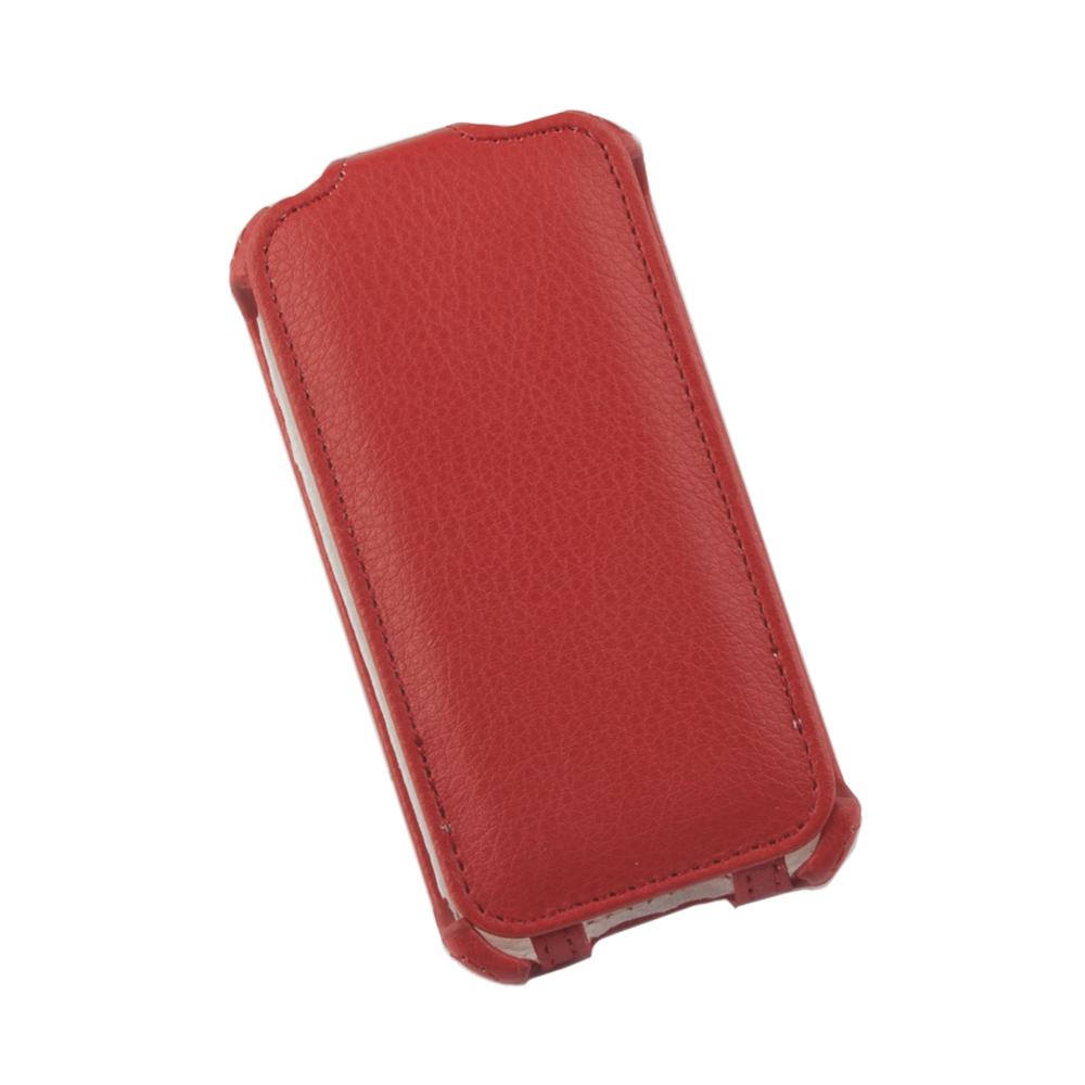 Liberty Project чехол-флип для Apple iPhone 4/4S, Red0L-00002585Флип-чехол Liberty Project для Apple iPhone 4/4S надежно защищает ваш смартфон от внешних воздействий, грязи, пыли, брызг. Он также поможет при ударах и падениях, не позволив образоваться на корпусе царапинам и потертостям. Обеспечивает свободный доступ ко всем разъемам и элементам управления.