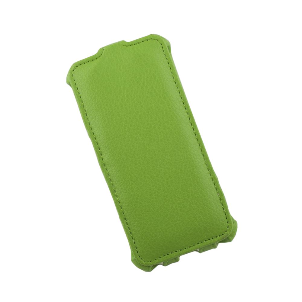 Liberty Project чехол-флип для Apple iPhone 5/5s, Green0L-00002588Флип-чехол Liberty Project для Apple iPhone 5/5s надежно защищает ваш смартфон от внешних воздействий, грязи, пыли, брызг. Он также поможет при ударах и падениях, не позволив образоваться на корпусе царапинам и потертостям. Чехол обеспечивает свободный доступ ко всем функциональным кнопкам смартфона и камере.