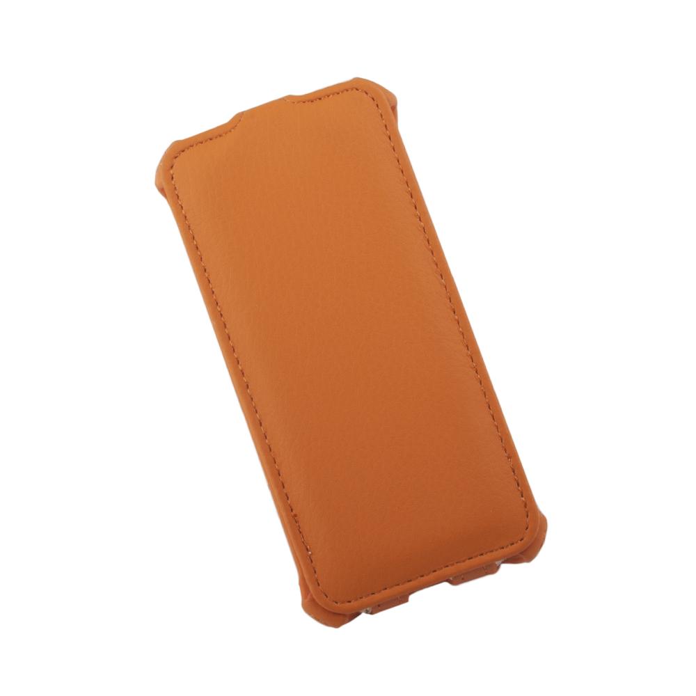 Liberty Project чехол-флип для Apple iPhone 5/5s, Orange0L-00002590Флип-чехол Liberty Project для Apple iPhone 5/5s надежно защищает ваш смартфон от внешних воздействий, грязи, пыли, брызг. Он также поможет при ударах и падениях, не позволив образоваться на корпусе царапинам и потертостям. Чехол обеспечивает свободный доступ ко всем функциональным кнопкам смартфона и камере.
