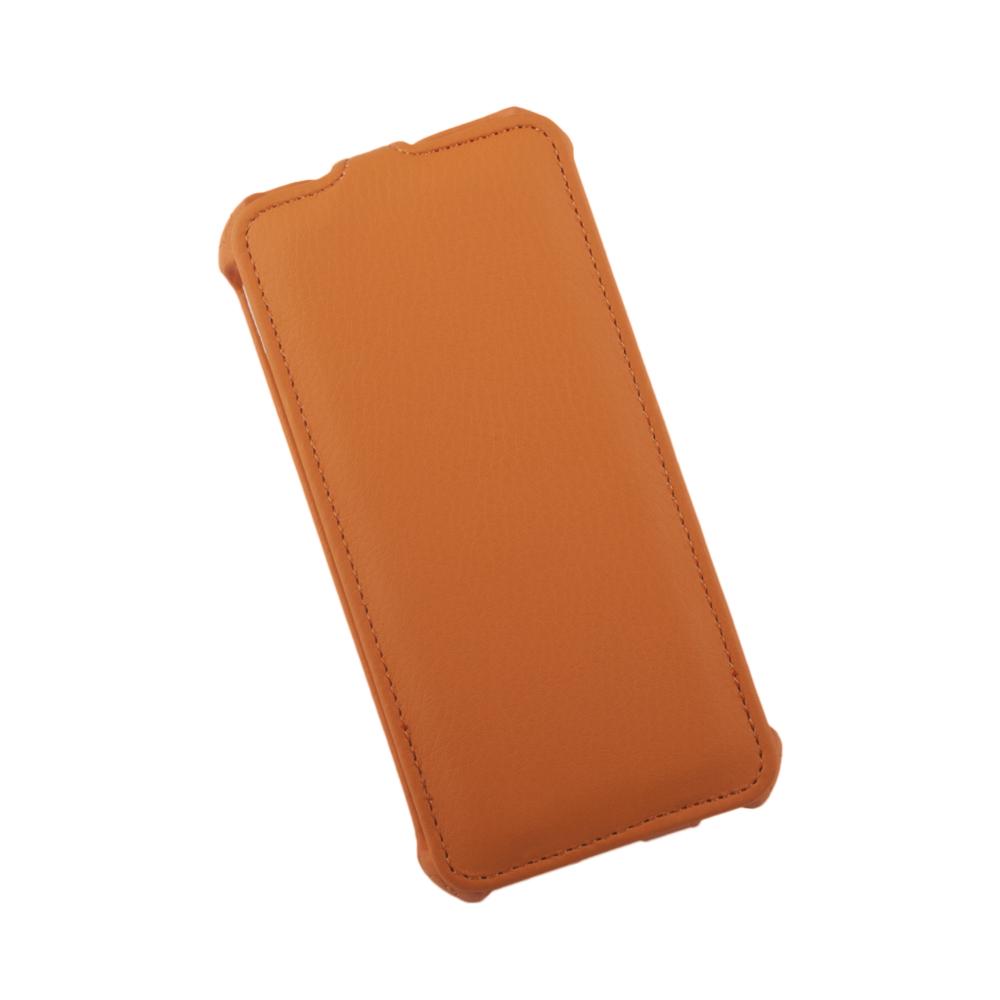 Liberty Project чехол-флип для Apple iPhone 6/6s, Orange0L-00002594Флип-чехол Liberty Project для Apple iPhone 6/6s надежно защищает ваш смартфон от внешних воздействий, грязи, пыли, брызг. Он также поможет при ударах и падениях, не позволив образоваться на корпусе царапинам и потертостям. Обеспечивает свободный доступ ко всем разъемам и элементам управления.