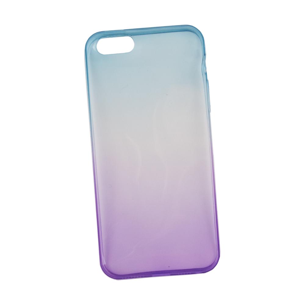 Liberty Project чехол для Apple iPhone 5/5s, Purple Blue0L-00027300Чехол Liberty Project для Apple iPhone 5/5s надежно защищает ваш смартфон от внешних воздействий, грязи, пыли, брызг. Он также поможет при ударах и падениях, не позволив образоваться на корпусе царапинам и потертостям. Чехол обеспечивает свободный доступ ко всем разъемам и кнопкам устройства.