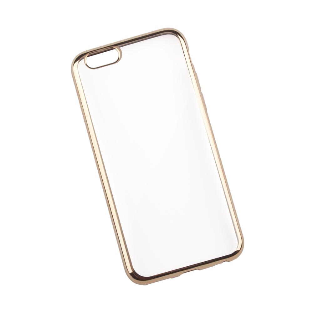 Liberty Project чехол для Apple iPhone 6/6s, Clear Gold0L-00027378Чехол Liberty Project для Apple iPhone 6/6s надежно защищает ваш смартфон от внешних воздействий, грязи, пыли, брызг. Он также поможет при ударах и падениях, не позволив образоваться на корпусе царапинам и потертостям. Чехол обеспечивает свободный доступ ко всем разъемам и кнопкам устройства.