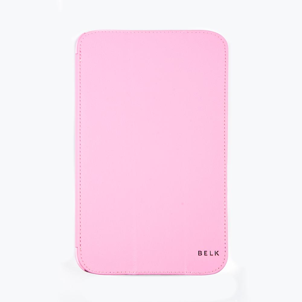 Belk чехол для Samsung Galaxy Tab 3 8,0, PinkR0000335Чехол Belk для Samsung Galaxy Tab 3 8,0 надежно защищает ваш смартфон от внешних воздействий, грязи, пыли, брызг. Он также поможет при ударах и падениях, не позволив образоваться на корпусе царапинам и потертостям. Чехол обеспечивает свободный доступ ко всем разъемам и кнопкам устройства.