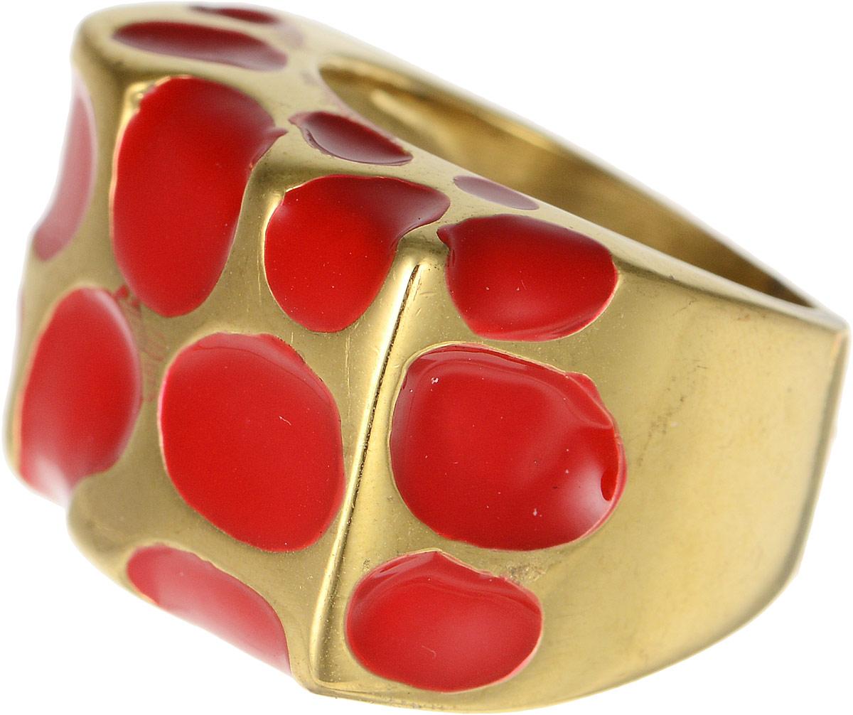 Кольцо Polina Selezneva, цвет: золотистый, красный. DG-0019. Размер 18Коктейльное кольцоОригинальное кольцо Polina Selezneva выполнено из бижутерийного сплава и оформлено в виде прямоугольника. Дополнено изделие вставками с эмалью.Такое кольцо это блестящее завершение вашего неповторимого, смелого образа и отличный подарок для ценительницы необычных украшений!