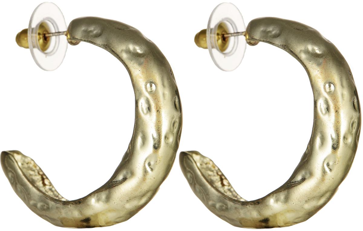 Серьги Polina Selezneva, цвет: золотистый. CG-0001Пуссеты (гвоздики)Серьги Polina Selezneva изготовлены из латуни и выполнены в оригинальном дизайне. Изделие застегивается с помощью замка-гвоздика.