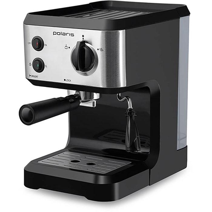 Polaris PCM 1517AE кофеваркаPCM 1517AEPolaris PCM 1517AE - кофеварка для настоящих кофейных ценителей. Она поможет не только проснуться, но получить отличный заряд бодрости на весь день.Удобная в использовании модель оснащена всем необходимым для идеального процесса приготовления кофе – в комплект входят съемный поддон, резервуар для воды и фильтр. А специально для тех, кто хочет разнообразить свой утренний кофе, Polaris добавили специальные трафареты для рисунков на молочной пене. С их помощью вы сможете создавать кофейные шедевры каждый день! Polaris PCM 1517AE - совершенство технологий и стиля: давление в 15 Бар идеально подходит для создания эспрессо – кофе с интенсивным ароматом и молочной пенкой. А благодаря компактному размеру, стильному матовому покрытию и мягкой подсветке кнопок кофеварка станет украшением вашей кухни.Прорезиненные ножки Подсветка кнопокСъемный поддон для сбора капель