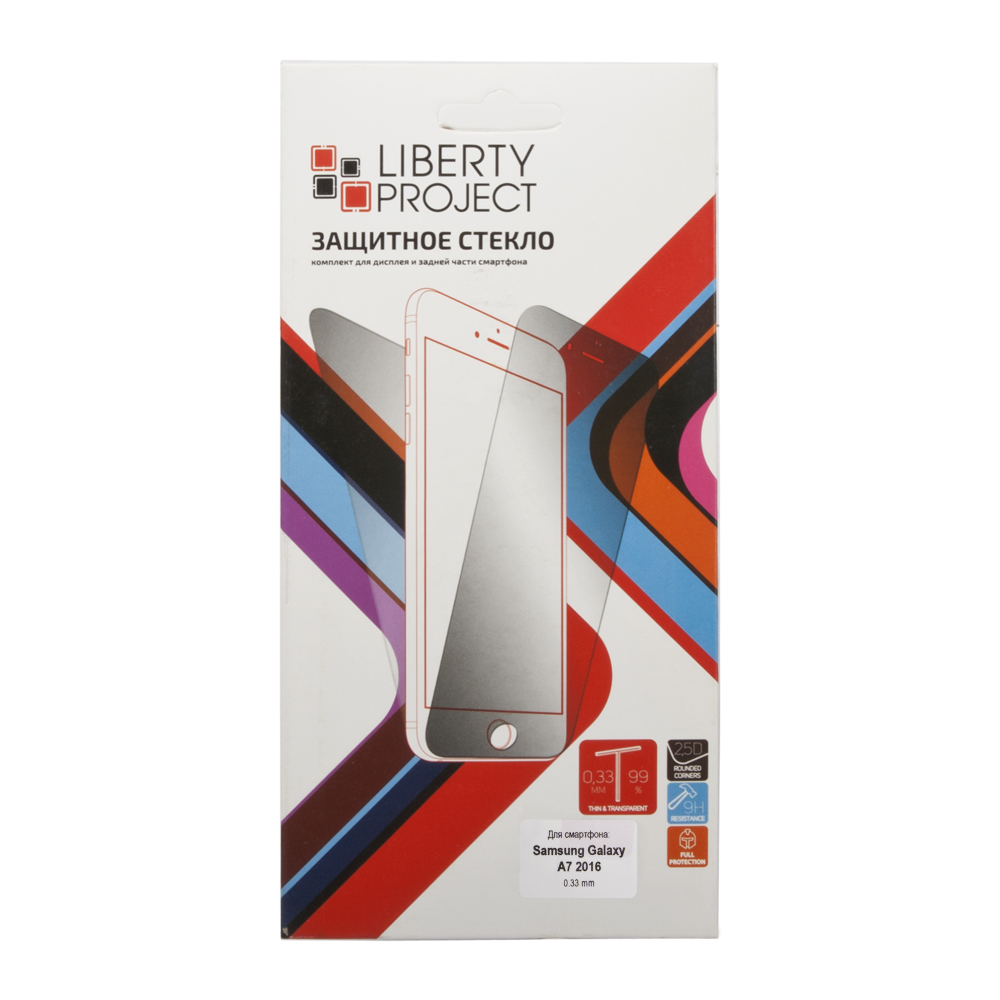 Liberty Project Tempered Glass защитное стекло для Samsung Galaxy A7 2016 (0,33 мм)0L-00027158Защитное стекло Liberty Project Tempered Glass для Samsung Galaxy A7 (2016) обеспечивает надежную защиту сенсорного экрана устройства от большинства механических повреждений и сохраняет первоначальный вид дисплея, его цветопередачу и управляемость. В случае падения стекло амортизирует удар, позволяя сохранить экран целым и избежать дорогостоящего ремонта. Стекло обладает особой структурой, которая держится на экране без клея и сохраняет его чистым после удаления. Силиконовый слой предотвращает разлет осколков при ударе.