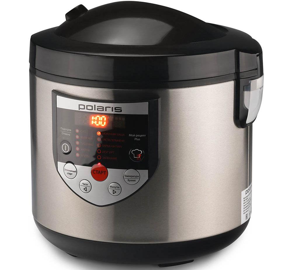 Polaris PMC 0548AD, Black мультиваркаPMC 0548ADМультиварка Polaris PMC 0548AD - это современный многофункциональный прибор для приготовления пищи. Сочетая в себе функции плиты, духового шкафа, пароварки, устройства для приготовления йогурта, мультиварка поможет вам сэкономить место на кухне. С мультиваркой вы сможете легко и быстро приготовить свои любимые блюда.Функция Мой рецепт Plus создана специально для творческих людей. Благодаря возможности самостоятельно устанавливать температуру и время приготовления, данная функция даст вам поистине безграничные возможности для приготовления разнообразных блюд, от самых простых до кулинарных шедевров. Вы быстро оцените преимущество функций отложенного старта и автоподогрева блюд, которые позволят вам приготовить блюдо к определенному времени и сохранить его теплым после приготовления.