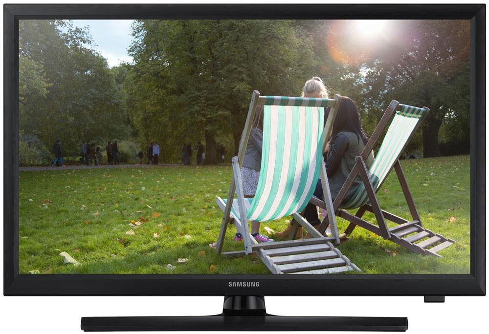 Samsung T24E310 телевизорLT24E310EX/RUSamsung T24E310 - уникальное устройство, которое сочетает в себе преимущества товаров двух разных категорий: можно смотреть телевизионные программы и в любой момент перейти к использованию устройства в качестве монитора. Наблюдайте за качественной картинкой LED-телевизора Samsung T24E310 с любого угла. Данный LED- телевизор обладает широкими углами обзора, которые составляют 178/178 градусов (по горизонтали / по вертикали). Эти дополнительные 8 градусов позволяют просматривать фильмы или фотографий не жертвуя качеством. Подключите LED-телевизор к ПК и работайте во время перерывов на рекламу вашего любимого телешоу. Теперь для этого не нужны ни специальный монитор, ни дополнительные кабели питания. Работа и отдых на одном экране! Просто подключите съемный накопитель к телевизору через USB-порт. Функция ConnectShare позволяет просматривать фото и воспроизводить аудио и видео.Телевизор оснащен всеми основными разъемами, включая HDMI (2 порта), для подключения внешних аудио-видео устройств (игровые консоли, ноутбуки, портативные плееры и т.д.). LED-телевизор обладает дополнительным режимом Football Mode, который активируется с помощью пульта ДУ одним нажатием. Данный режим позволяет повысить качество изображения и звука. Необычная конструкция корпуса позволяет обойтись без дополнительного VESA-кронштейна, т.к. часть подставки монитора может служить для крепления на стену. Яркость (типичное значение): 250 кд/м2Соотношение сторон экрана: 16:9Яркость (минимальное значение): 200 кд/м2Время отклика: 8 (G to G) Динамическая контрастность: Mega Contrast.