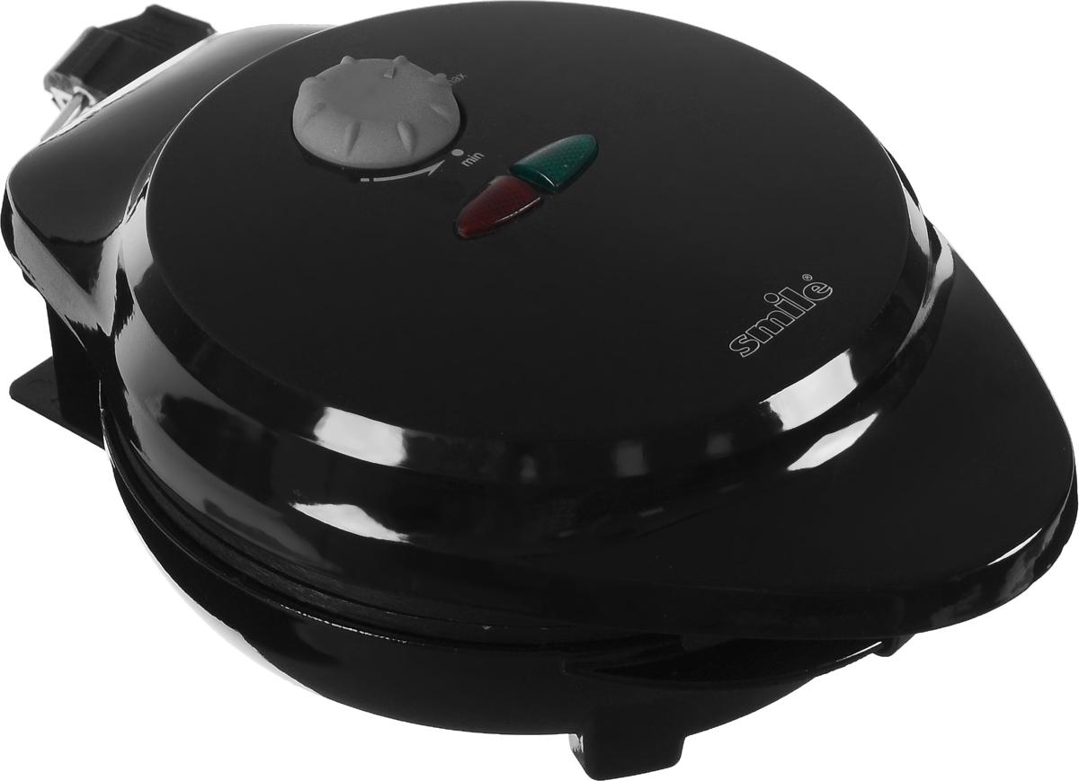 Smile WM 3609, Black электровафельницаWM 3609Электровафельница Smile WM 3609 позволит легко и быстро приготовить свежеиспеченные вафли или рожки для мороженого в домашних условиях. Прибор оснащен плавно регулируемым термостатом. Антипригарное покрытие рабочей поверхности облегчит очистку вафельницы, а индикаторы работы и нагрева проинформируют вас о текущем состоянии прибора.