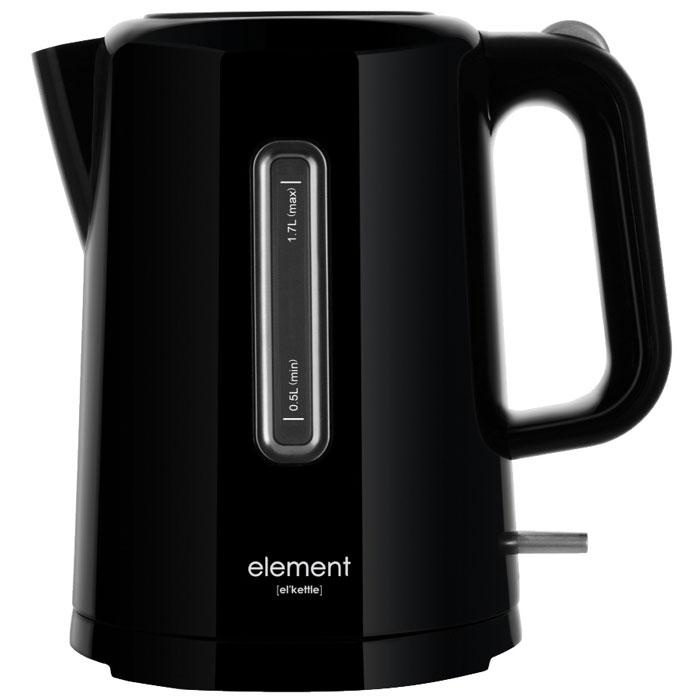 Element ElKettle WF01PB, Black электрический чайник4610013601574Element ElKettle WF01PB - практичный и стильный электрический чайник. Эта модель обладает оптимальным объемом, имеет мощный нагревательный элемент, и проста в эксплуатации. Чайник выполнен из пластика при нагревании не выделяющий вредные соединения. Дизайн прибора отлично впишется в современные интерьеры частных домов и квартир.