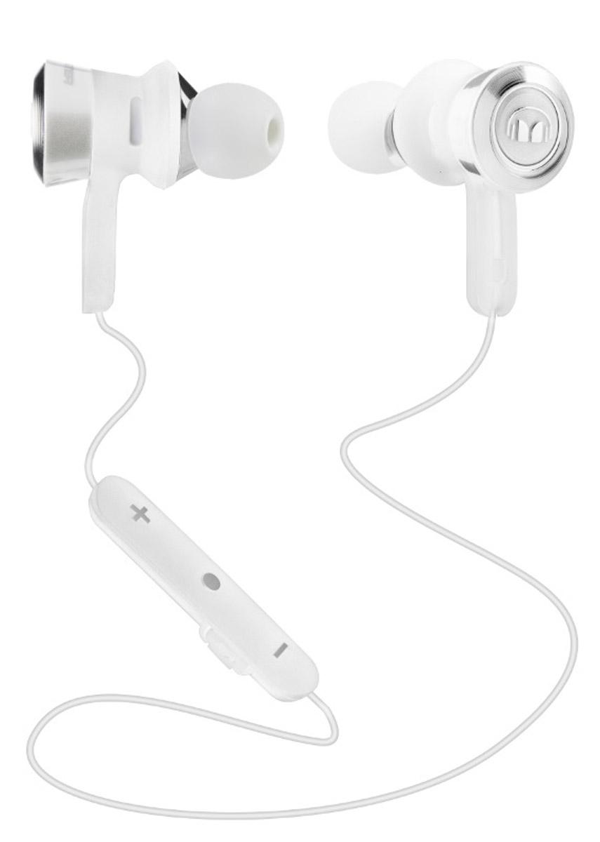 Monster Clarity HD, White беспроводные наушники137031-00ClarityHD разработаны специально для вашего комфорта. Несколько насадок обеспечивают наилучшее прилегание для любых размеров ушей. Наушники не выпадут и не доставят дискомфорта при длительном ношении. Вы можете полностью сконцентрироваться на музыке, а высокочувствительный микрофон не подведет при общении, четко передавая каждое слово. Двойной аккумулятор позволит наслаждаться музыкой до 8 часов без подзарядки.