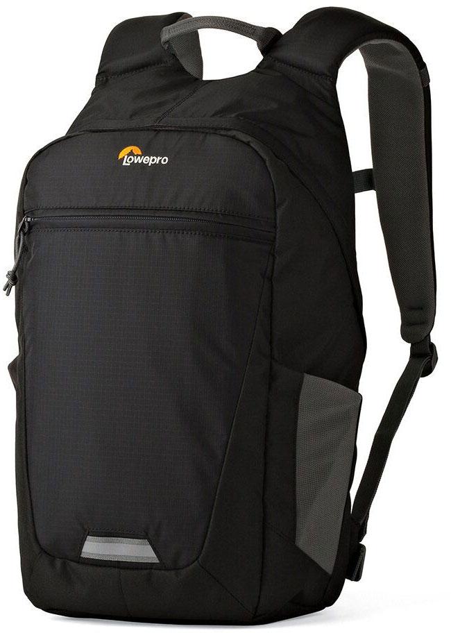 Lowepro Photo Hatchback BP 150 AW II, Black Grey рюкзак для фотоаппаратаLP36955-PRUМногофункциональный спортивный рюкзак PhotoHatchback BP 150 AW II ориентирован на ежедневные поездки и кратковременные путешествия, вмещает фототехнику и личные вещи.Рюкзак имеет со стороны спинки доступ к фото отделению, которое выполнено в виде съемного кофра и может быть извлечено при необходимости. В этом случае рюкзак можно использовать как туристический под личные вещи. Передвижные перегородки в фотоотделении позволят организовать место под нужный комплект оборудования. Наличие кармана, выполненного с использованиемсистемы CradleFit, обеспечит безопасностьпланшета, благодаря тому, что карман планшета размещен на некотором расстоянии от дна рюкзака и защищает от ударов. Имеются двавнешних глубоких эластичных боковых кармана из сетчатого материала для бутылки с водой или аксессуаров первой необходимости.Рюкзак имеет обновленный дизайн спинки, металлические молнии и светоотражающую полосу для безопасности,к ней также можно закрепить дополнительные аксессуары.