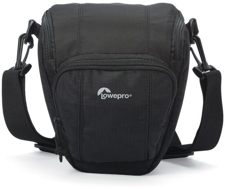 Lowepro Toploader Zoom 45 AW II, Black сумка для фотокамерыLP36700-0RUВторое поколение сумок серии Toploader Zoom AW II предоставляют надежную защиту в течения дня на прогулке, в путешествие или при спортивной съемке. Компактные, оснащенные возможностью быстрого доступа к камере сумки, которые можно носить тремя способами (на плече, поясе или с помощью специальной разгрузочной системы Topload Chest Harness). Бегунки застежек-молний, которые легко открываются и закрываются при низких температурах, имеют специальные D-образные кольца: их просто нащупать, за них легко ухватиться. На светло-серой ткани отделки основного отсека сумок быстрее можно разглядеть нужную вещь.Все сумки серии оснащены встроенным всепогодным защитным чехлом All Weather AW Cover и вместительным фронтальным карманом на молнии для разных полезных мелочей, кошелька или документов