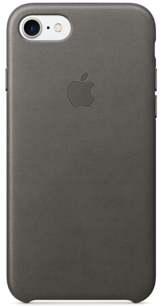 Apple Leather Case чехол для iPhone 7, Storm GrayMMY12ZM/AЧехлы, созданные Apple, точно повторяют контуры iPhone, не делая его громоздким. Apple Leather Case изготовлен из мягкой кожи европейского производства, которая со временем покрывается благородной патиной. Мягкая внутренняя поверхность, выполненная из микроволокна, защищает корпус вашего iPhone. А кнопки из обработанного алюминия идеально подходят по цвету к чехлу.
