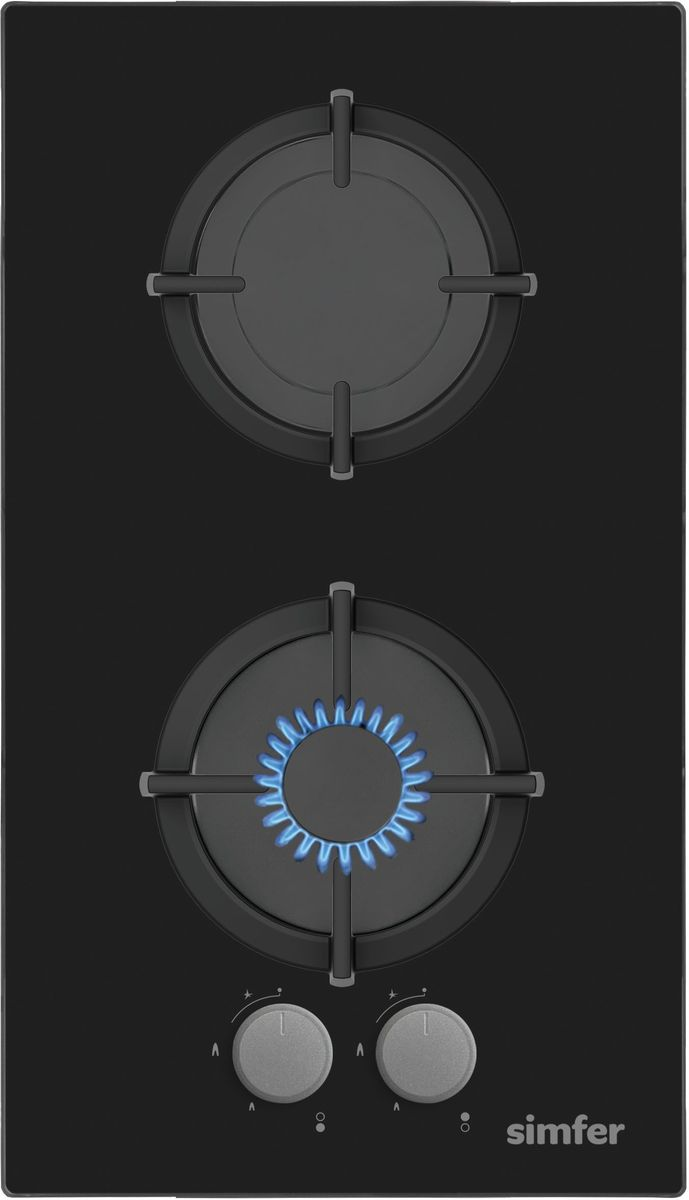 Simfer H30N20B411 панель варочная газоваяH30N20B411Газовая варочная панель Simfer H30N20B411 с чистым пламенем доведет вашу сковороду до нужной температуры без всяких задержек. Включите её и всё днище сковороды будет моментально нагрето.Благодаря идеальному расположению панели управления и индикатора уровня мощности прямо спереди этой варочной панели, любой повар, будь он левша или правша, сможет пользоваться ими с одинаковой лёгкостью.Газовая варочная поверхностьSimfer H30N20B411 упрощает приготовление и делает его безопаснее благодаря особой форме подставок, обеспечивающих абсолютную устойчивость посуды.Нет способа быстрее и удобнее для того, чтобы разжечь конфорку, чем автоподжиг варочной панели. Просто поверните ручку, чтобы открыть и зажечь газ одним плавным движением.