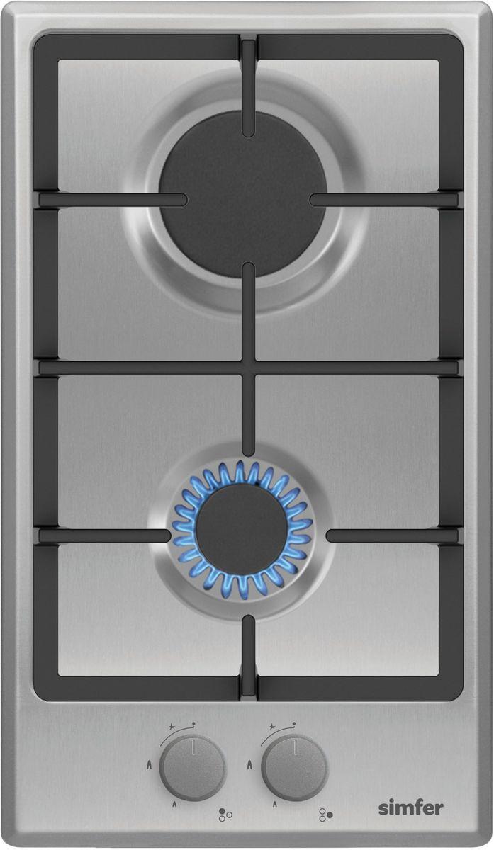 Simfer H30V20M511 панель варочная газоваяH30V20M511Газовая варочная панель Simfer H30V20M511 с чистым пламенем доведет вашу сковороду до нужной температуры без всяких задержек. Включите её и всё днище сковороды будет моментально нагрето.Благодаря идеальному расположению панели управления и индикатора уровня мощности прямо спереди этой варочной панели, любой повар, будь он левша или правша, сможет пользоваться ими с одинаковой лёгкостью.Газовая варочная поверхность Simfer H30V20M511 упрощает приготовление и делает его безопаснее благодаря особой форме подставок, обеспечивающих абсолютную устойчивость посуды.Нет способа быстрее и удобнее для того, чтобы разжечь конфорку, чем автоподжиг варочной панели. Просто поверните ручку, чтобы открыть и зажечь газ одним плавным движением.