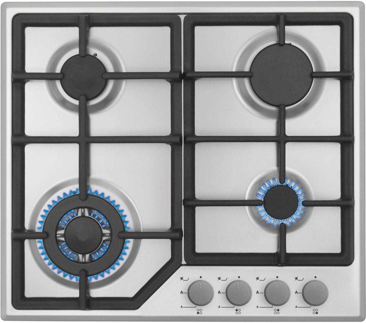 Simfer H60M41M412 панель варочная газоваяH60M41M412Газовая варочная панель Simfer H60M41M412 с чистым пламенем доведет вашу сковороду до нужной температуры без всяких задержек. Включите её и всё днище сковороды будет моментально нагрето.Благодаря идеальному расположению панели управления и индикатора уровня мощности прямо спереди этой варочной панели, любой повар, будь он левша или правша, сможет пользоваться ими с одинаковой лёгкостью.Газовая варочная поверхность Simfer H60M41M412 упрощает приготовление и делает его безопаснее благодаря особой форме подставок, обеспечивающих абсолютную устойчивость посуды.Нет способа быстрее и удобнее для того, чтобы разжечь конфорку, чем автоподжиг варочной панели. Просто поверните ручку, чтобы открыть и зажечь газ одним плавным движением.