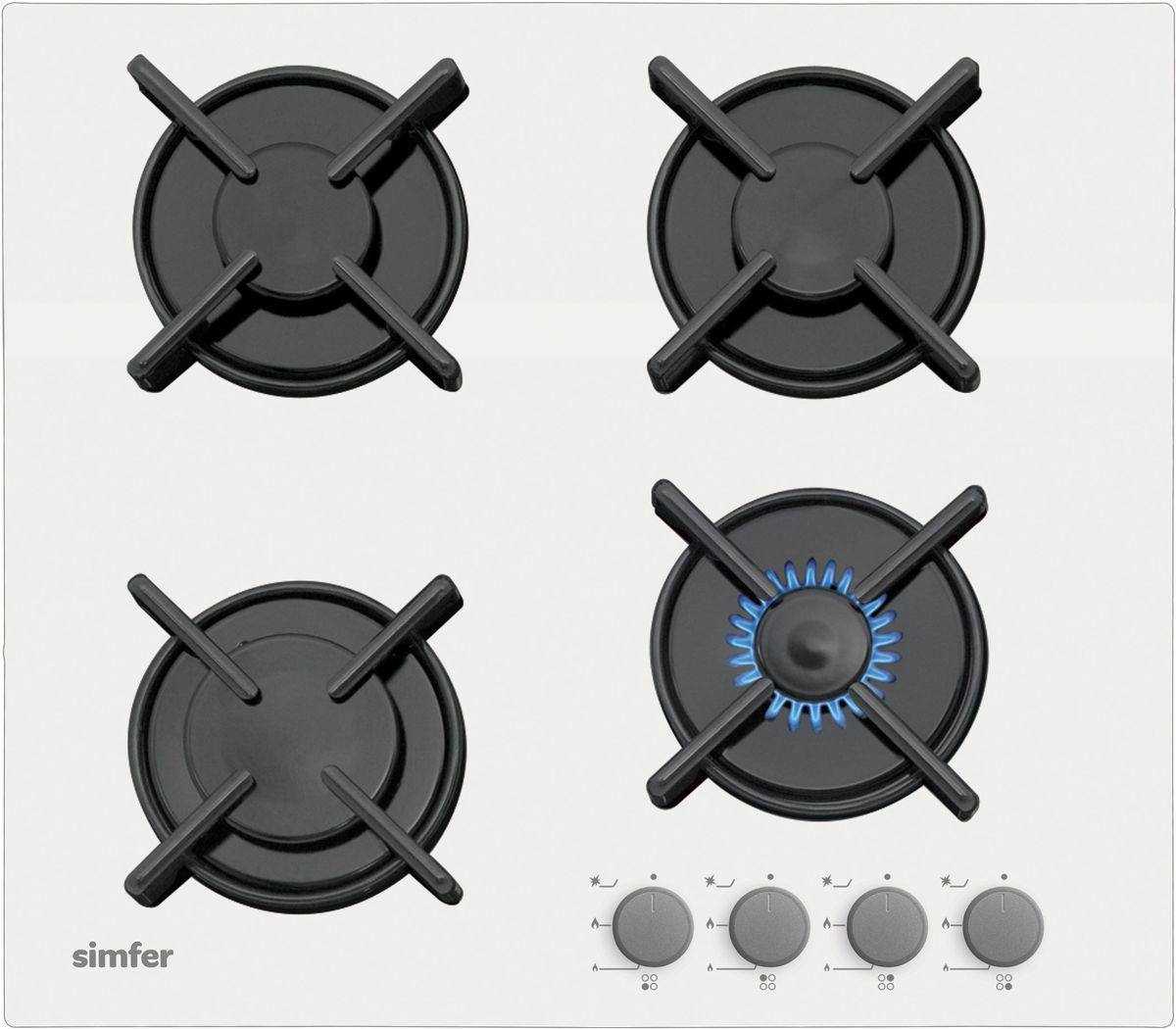 Simfer H60N40W412 панель варочная газовая - Варочные панели