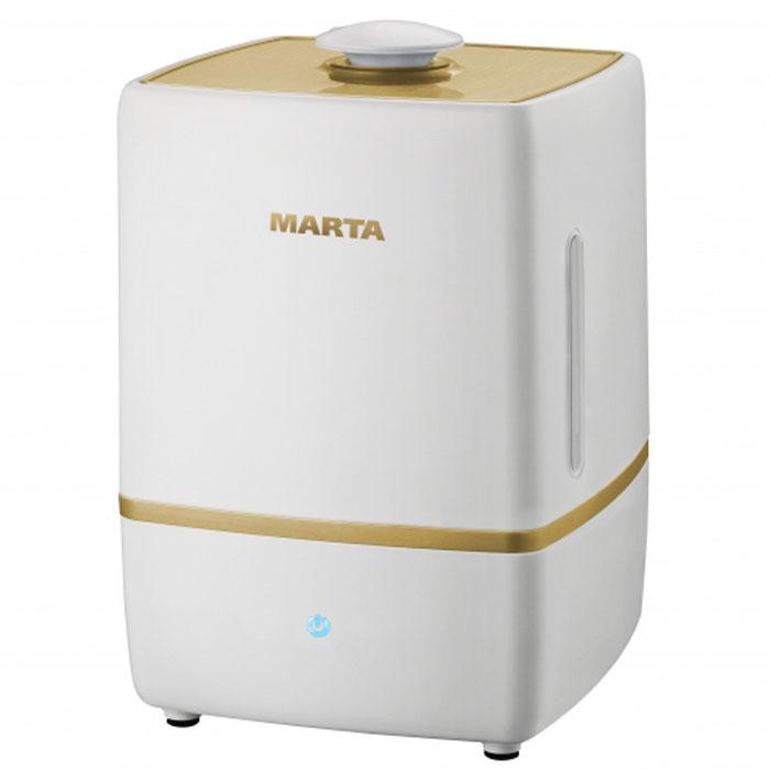 Marta MT-2659, Light Amber увлажнитель воздухаMT-2659Увлажнитель воздуха Marta MT-2659 бесшумно нормализует уровень влажности в помещении до идеального уровня. Вы почувствуете разницу очень скоро, ведь от уровня влажности зависит и степень вашей работоспособности, и качество отдыха.Три режима интенсивности увлажнения позволяет создавать необходимый именно вам микроклимат, как дома, так и в офисе. Marta MT-2659 оснащен вместительным пятилитровым резервуаром. При расходе воды всего 250 мл/ч, такой объем позволяет поддерживать комфортные условия в жилом помещении на протяжении суток. Удобное и простое управление осуществляется при помощи сенсорной панели со светодиодной индикацией.
