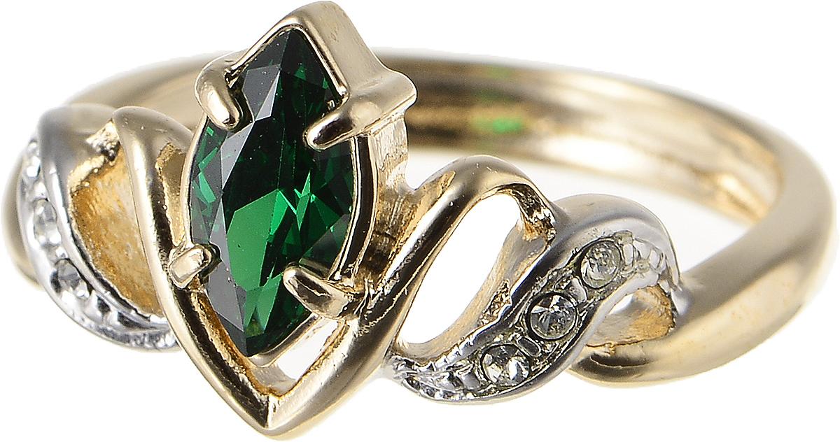 Кольцо Jenavi Изумрудные мечты. Альсена, цвет: золотой, зеленый. h797q0a3. Размер 16Коктейльное кольцоЭлегантное кольцо Изумрудные мечты. Альсена изготовлено из гипоаллергенного ювелирного сплава. Декоративная часть оформлена фианитами. Такое стильное кольцо идеально дополнит ваш образ и подчеркнет вашу индивидуальность.