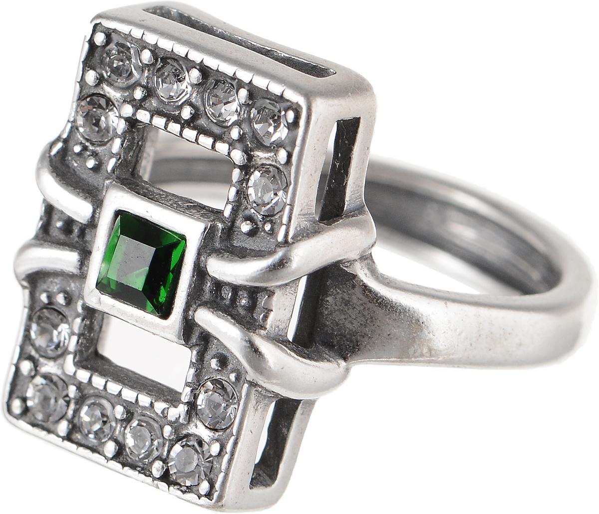 Кольцо Jenavi Изумрудные мечты. Риголит, цвет: серебряный, зеленый. h8023030. Размер 16Коктейльное кольцоЭлегантное кольцо Jenavi Изумрудные мечты. Риголит изготовлено из гипоаллергенного ювелирного сплава. Декоративная часть оформлена кристаллами Swarovski. Такое стильное кольцо идеально дополнит ваш образ и подчеркнет вашу индивидуальность.