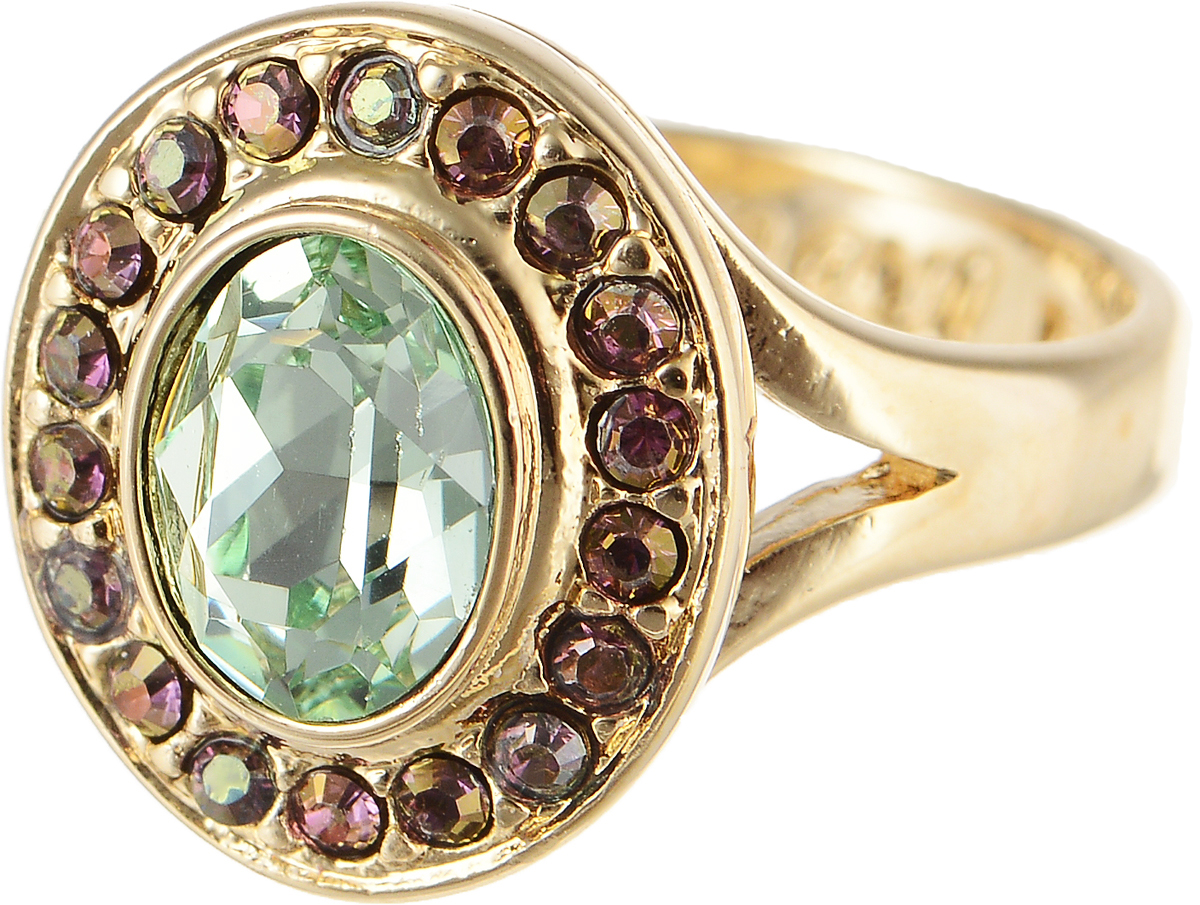 Кольцо Jenavi Murano. Навогеро, цвет: золотой, зеленый. r468p030. Размер 17Коктейльное кольцоЭлегантное кольцо Jenavi Murano. Навогеро изготовлено из гипоаллергенного ювелирного сплава. Декоративная часть оформлена кристаллами Swarovski. Такое стильное кольцо идеально дополнит ваш образ и подчеркнет вашу индивидуальность.