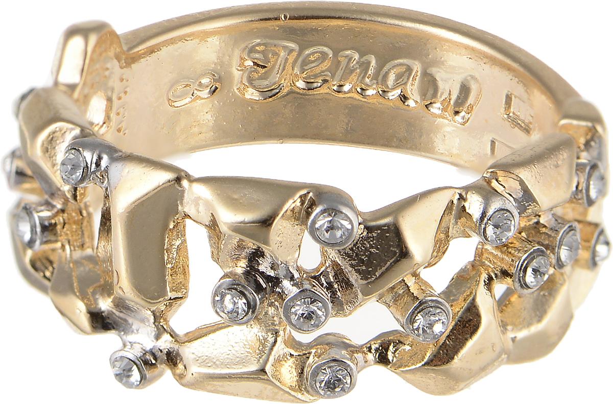 Кольцо Jenavi Relax. Сэсуон, цвет: золотой. r973q000. Размер 18Коктейльное кольцоЭлегантное кольцо Jenavi Relax. Сэсуон изготовлено из гипоаллергенного ювелирного сплава. Декоративная часть оформлена кристаллами Swarovski. Внутренняя сторона изделия дополнена гравировкой с названием бренда. Такое стильное кольцо идеально дополнит ваш образ и подчеркнет вашу индивидуальность.