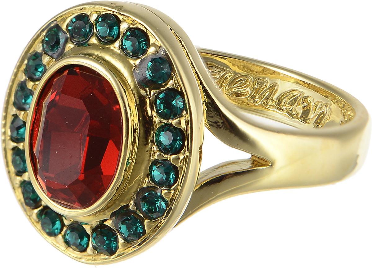 Кольцо Jenavi Murano. Навогеро, цвет: золотой, красный. r468p015. Размер 16Коктейльное кольцоЭлегантное кольцо Jenavi Murano. Навогеро изготовлено из гипоаллергенного ювелирного сплава. Декоративная часть оформлена стразами Swarovski. Такое стильное кольцо идеально дополнит ваш образ и подчеркнет вашу индивидуальность.