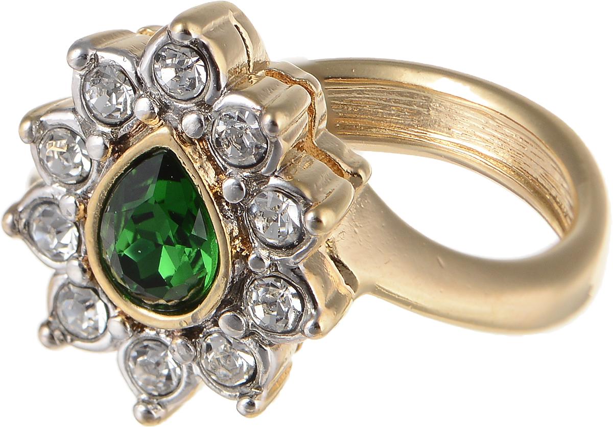 Кольцо Jenavi Изумрудные мечты. Тионель, цвет: золотой, зеленый. h796q030. Размер 19Коктейльное кольцоЭлегантное кольцо Jenavi Изумрудные мечты. Тионель изготовлено из гипоаллергенного ювелирного сплава. Декоративная часть оформлена кристаллами Swarovski. Такое стильное кольцо идеально дополнит ваш образ и подчеркнет вашу индивидуальность.